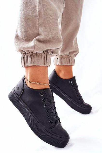 Dámske tenisky farba čierna kód obuvi II274098 BLACK