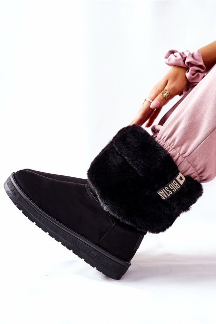 Dámske snehule farba čierna kód obuvi II274123 BLK