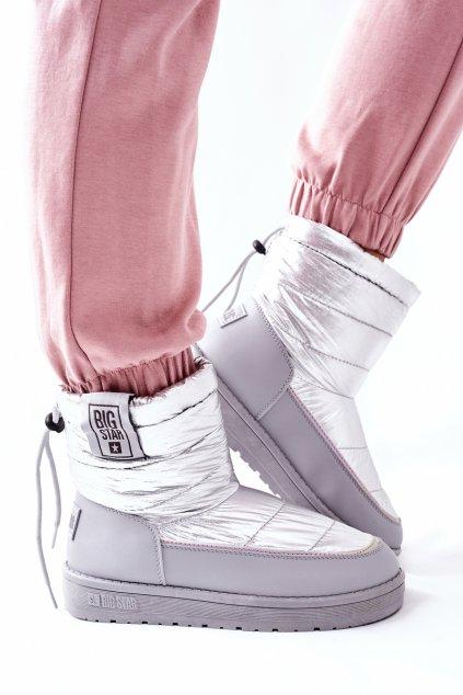 Dámske snehule farba čierna kód obuvi II274118 SILVER