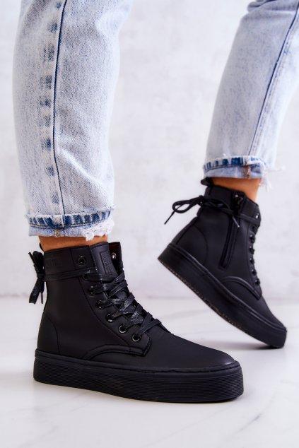 Dámske tenisky farba čierna kód obuvi II274096 BLACK