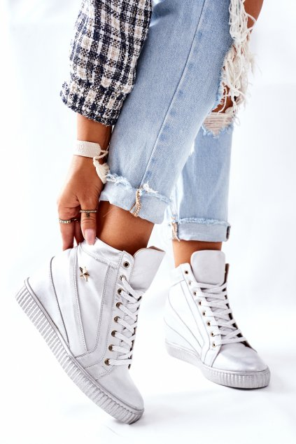 Dámske tenisky farba sivá kód obuvi 3079 SILVER