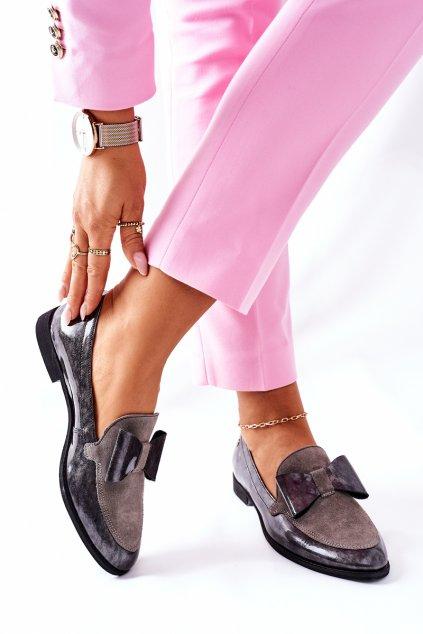 Dámske poltopánky farba sivá kód obuvi 04099-03/00-1 POPIEL