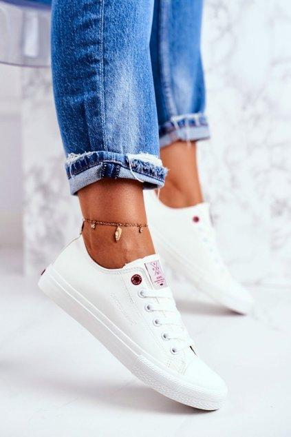 Dámske tenisky farba biela kód obuvi DD2R4030 WHITE