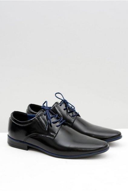 Pánske poltopánky farba čierna kód obuvi 526 BLK + BLUE