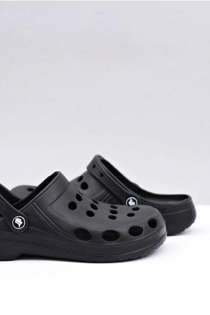 Pánske šľapky farba čierna kód obuvi A-001 BLK