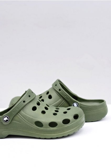 Pánske šľapky farba zelená kód obuvi A-001 GREEN