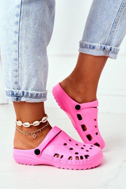 Dámske šľapky farba ružová kód obuvi B-2008 PINK
