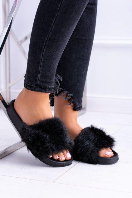 Dámske šľapky farba čierna kód obuvi ZD800 BLK