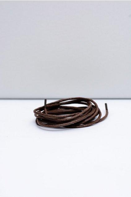 Šnúrky do topánok farba hnedá kód BRĄZOWE OKR. CIENKI WOSK