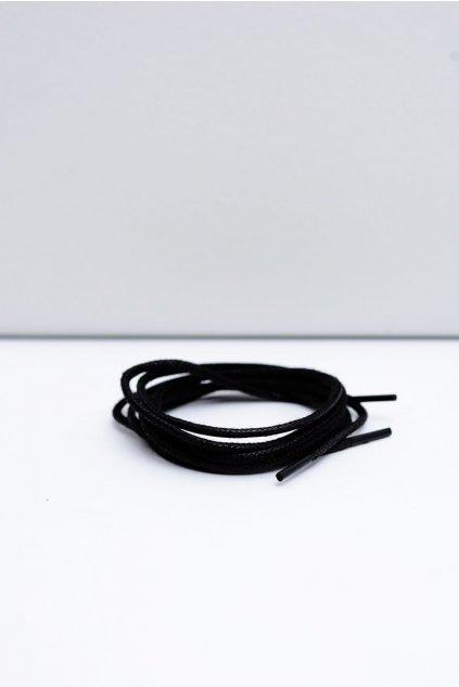 Šnúrky do topánok farba čierna kód CZARNE OKR. CIENKI WOSK