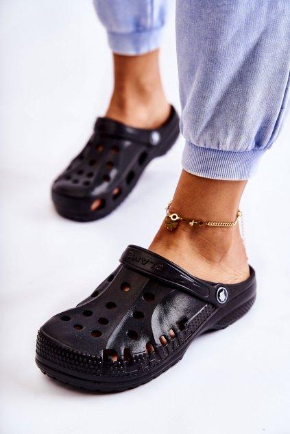 Dámske šľapky farba čierna kód obuvi B-2008 BLK