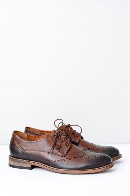 Pánske poltopánky farba hnedá kód obuvi 1650 B.C BRĄZ
