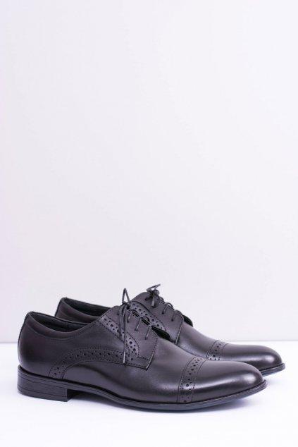 Pánske poltopánky farba čierna kód obuvi 310-459 BLK