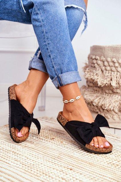 Dámske šľapky farba čierna kód obuvi CK02P BLK