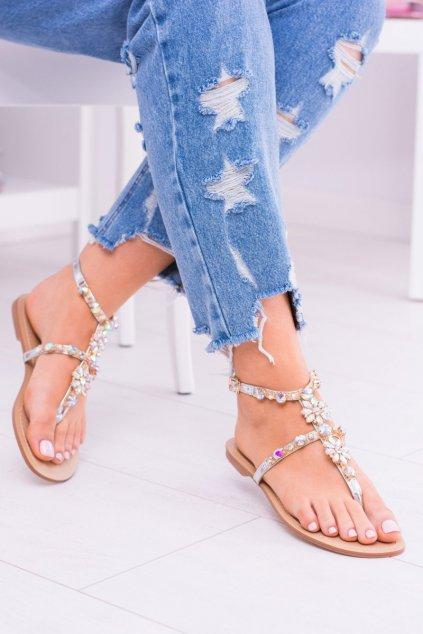 Dámske sandále farba sivá kód obuvi 112-4 SILVER