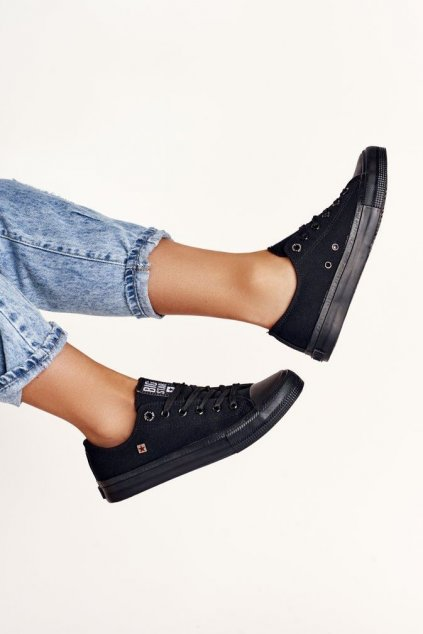 Dámske tenisky farba čierna kód obuvi AA274009 BLK