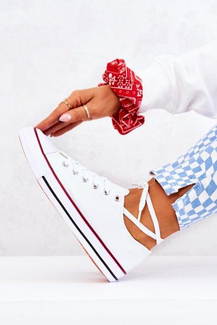 Dámske tenisky farba biela kód obuvi XL03 WHITE