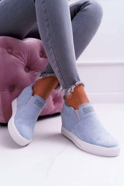Dámske tenisky farba modrá kód obuvi XW36272 LT.BLUE SUEDE