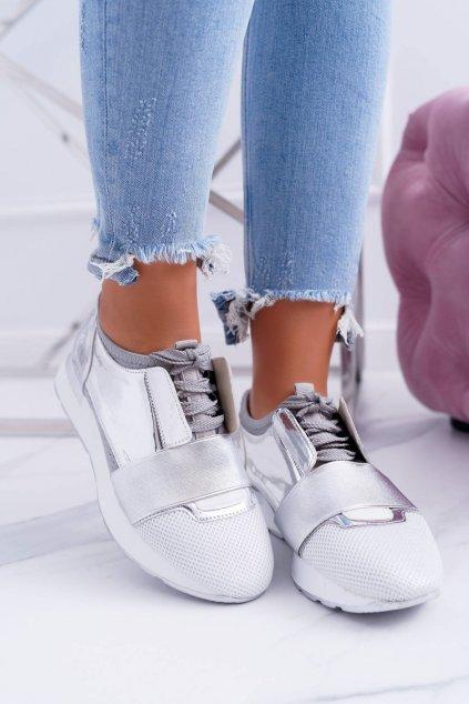 Dámske tenisky farba sivá kód obuvi 980-10 SILVER