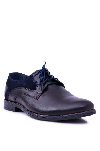 Pánske poltopánky farba čierna kód obuvi 1671 BLK