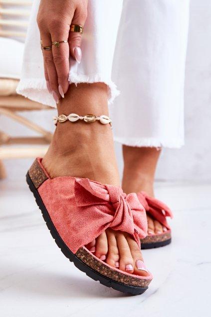 Dámske šľapky farba ružová kód obuvi RS-1 WATERMELON / CK02 CORAL