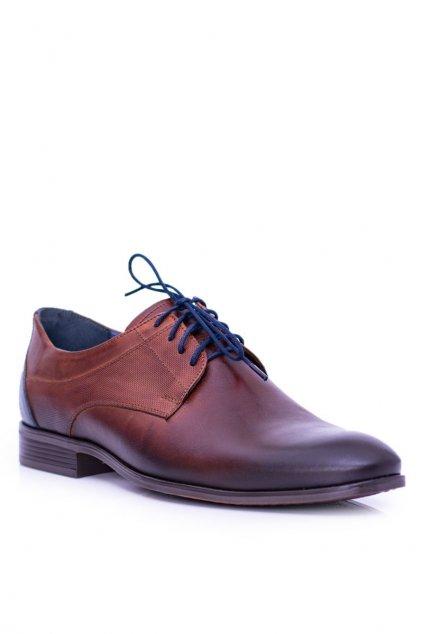 Pánske poltopánky farba hnedá kód obuvi 1677 BROWN B.C.17