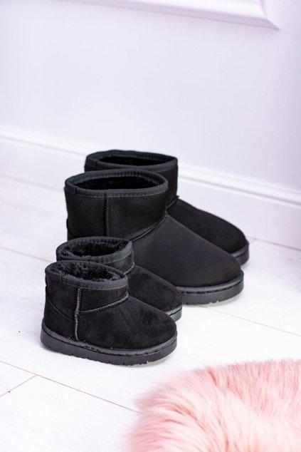 Dámske snehule farba čierna kód obuvi 20213-3A BLK