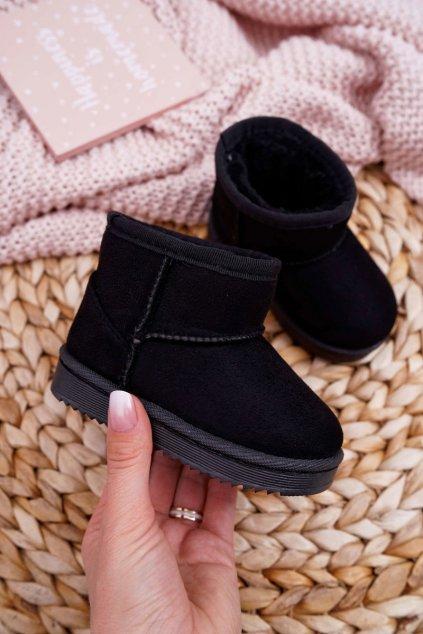 Detské snehule farba čierna kód obuvi 20213-1A/2A BLK