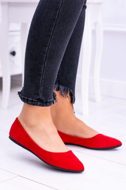 Dámske balerínky farba červená kód obuvi CD52P / WD39 RED