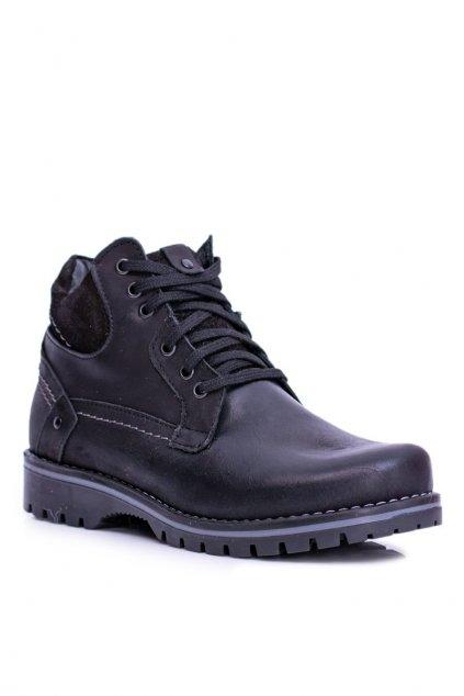 Pánske topánky na zimu farba čierna kód obuvi 885 BLK