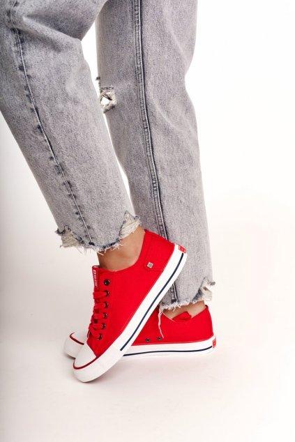 Dámske tenisky farba červená kód obuvi DD274339 RED