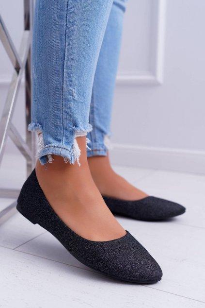 Dámske balerínky farba čierna kód obuvi CC200P BLK