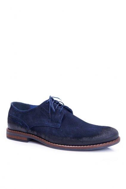 Pánske poltopánky farba modrá kód obuvi 1714 NAVY