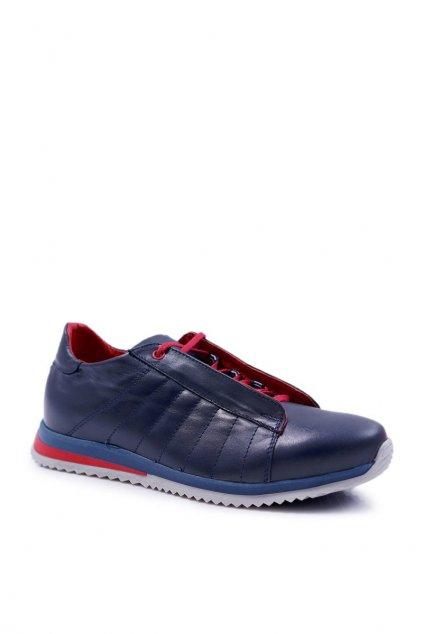 Pánske poltopánky farba modrá kód obuvi N401 NAVY