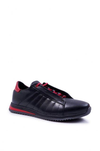 Pánske poltopánky farba čierna kód obuvi N401 BLK