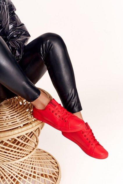 Dámske tenisky farba červená kód obuvi DD274686 RED