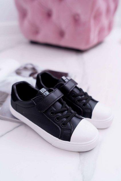 Detské tenisky farba čierna kód obuvi DD374108 BLK