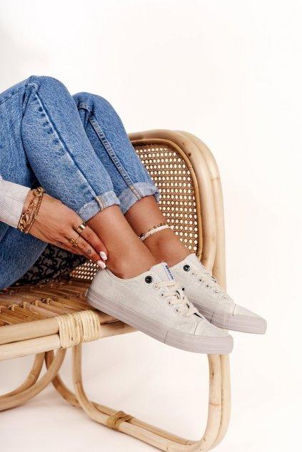 Dámske tenisky farba sivá kód obuvi DD274439 GREY