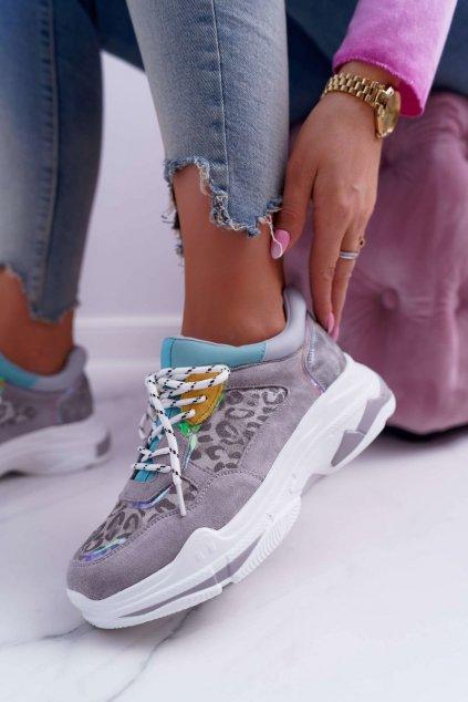 Dámske tenisky farba sivá kód obuvi FY229-1 GREY