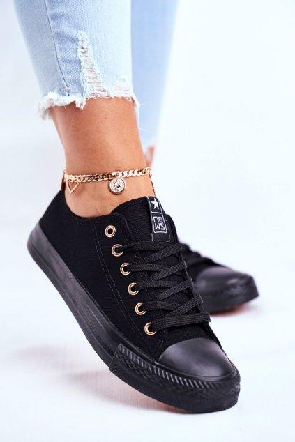 Dámske tenisky farba čierna kód obuvi 9SP30-1141 BLACK GOLD