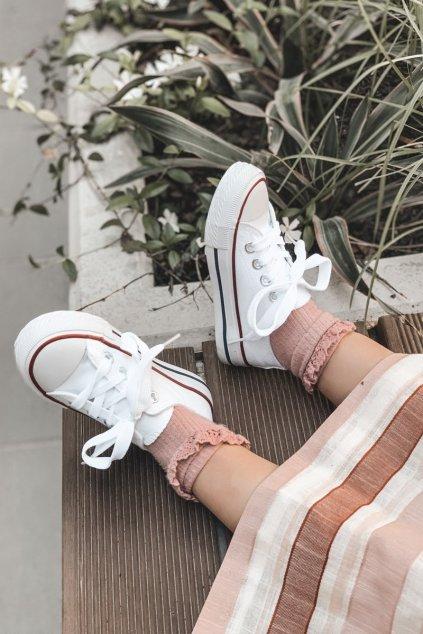 Detské tenisky farba biela kód obuvi 844-3B/860-B WHT