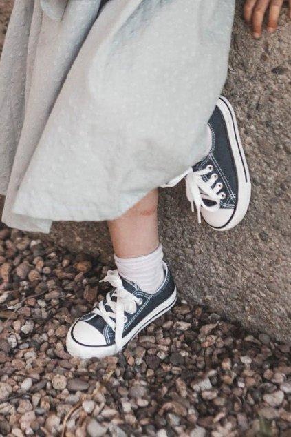 Detské tenisky farba modrá kód obuvi 860-C NAVY BLUE