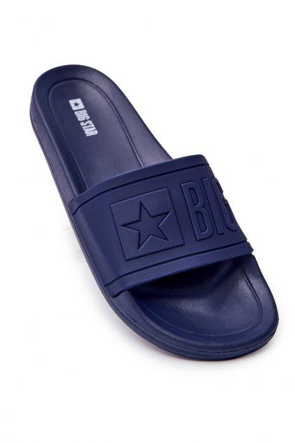 Pánske šľapky farba modrá kód obuvi DD174688 NAVY