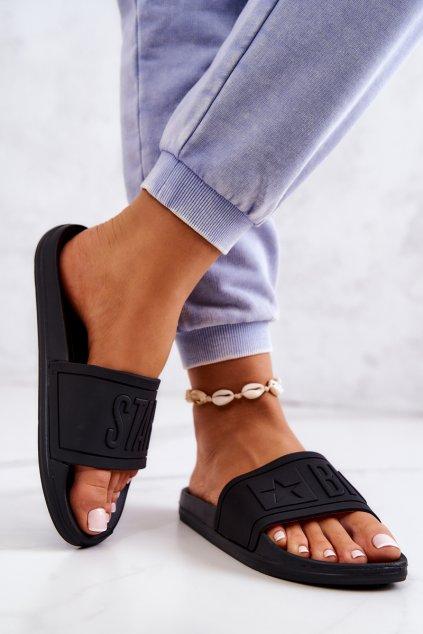 Dámske šľapky farba čierna kód obuvi DD274A271 BLK