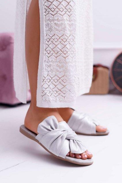 Dámske šľapky farba sivá kód obuvi 9SD35-0990 GREY