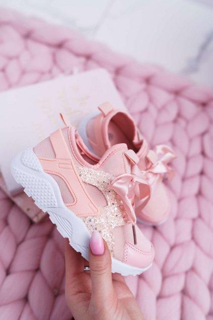 Dámske tenisky farba ružová kód obuvi 1357-C KID PINK