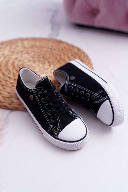 Dámske tenisky farba čierna kód obuvi 9DZ35-1198 BLK