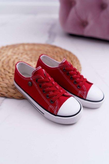 Dámske tenisky farba červená kód obuvi 9DZ35-1198 RED