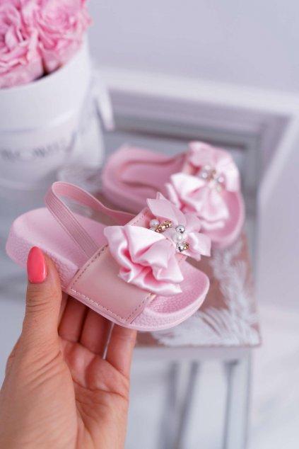 Detské šľapky farba ružová kód obuvi 295 PINK