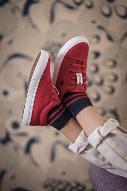Detské tenisky farba červená kód obuvi DD374077 RED